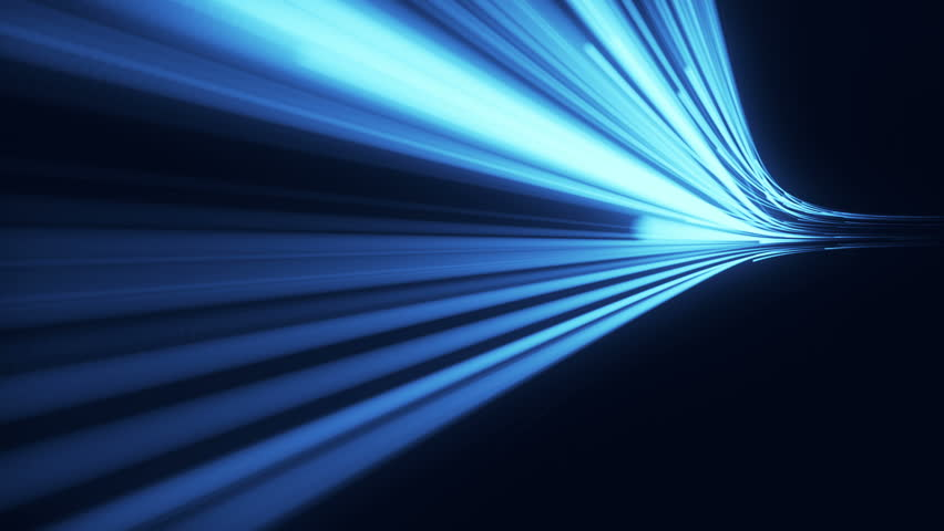 Abstract background with animation moving of lines for fiber optic network. Magic flickering dots or glowing flying lines. Animation of seamless loop.