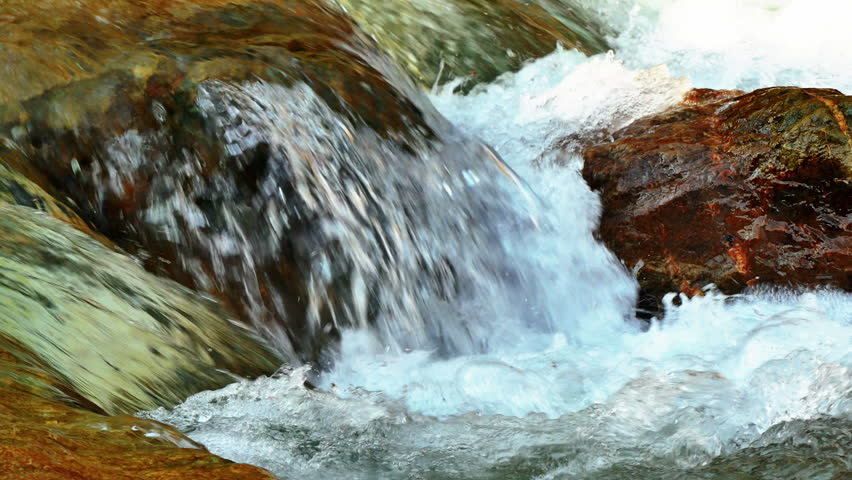 Mountain river with big stones 4k   Shutterstock HD Video #1009860737