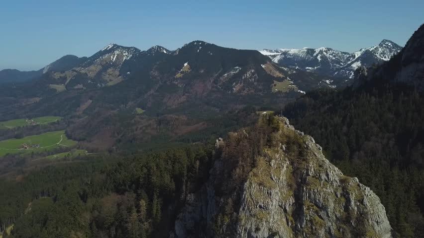 Spring summit aerial flight Heuberg Bavaria Germany  - 4k UHD | Shutterstock HD Video #1009876034