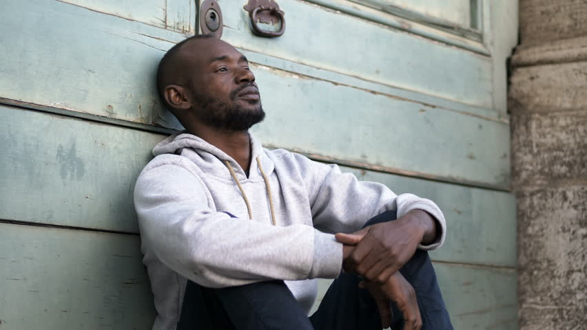 Depressed Sad Young Black African Stock Footage Video (100% Royalty-free)  1009906169 | Shutterstock