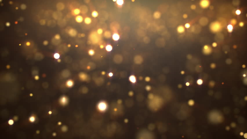 4k resolution gold floating particle bokeh on dark background  #1009932506