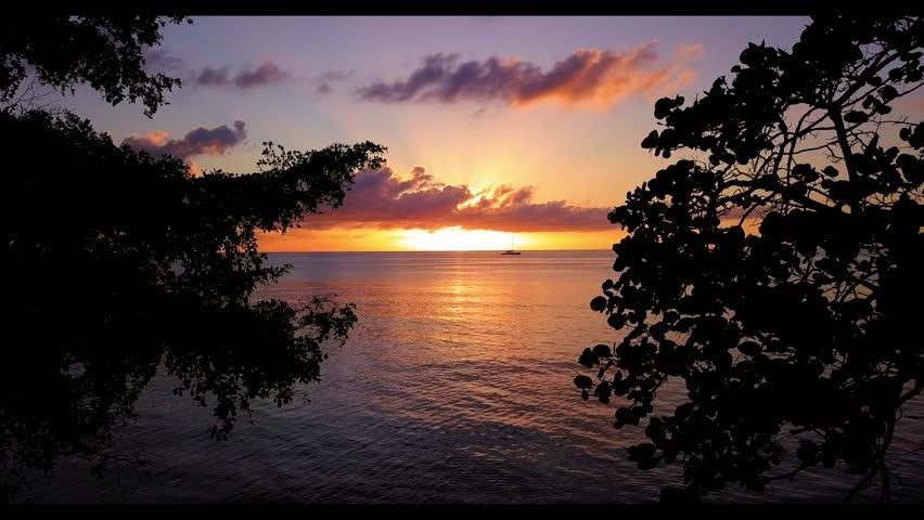 Sunset on Negril Beach, Jamaica