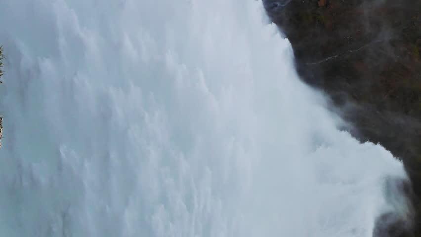 Vertical video. Kirov reservoir dam. (Built 1965 - 1975). Valley Talas, Kyrgyzstan | Shutterstock HD Video #1009949339