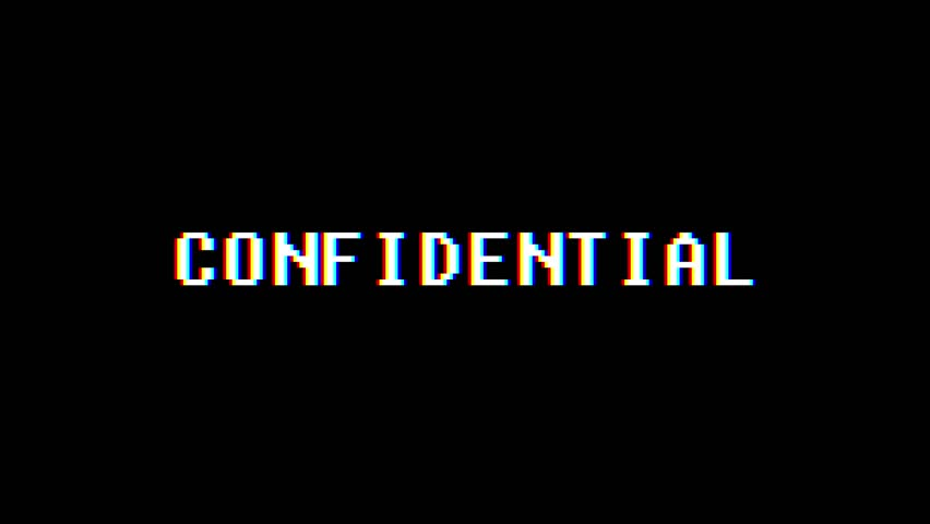 Retro videogame CONFIDENTIAL text computer old tv glitch interference noise screen animation seamless loop New quality universal vintage motion dynamic animated background colorful joyful video | Shutterstock HD Video #1009952084