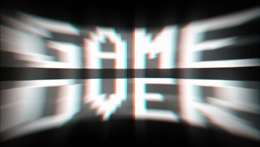 GAME OVER Glitch Text Animation, Old Gaming Console Style, (3 Versions with Alpha Channel), Rendering, Background, Loop, 4k