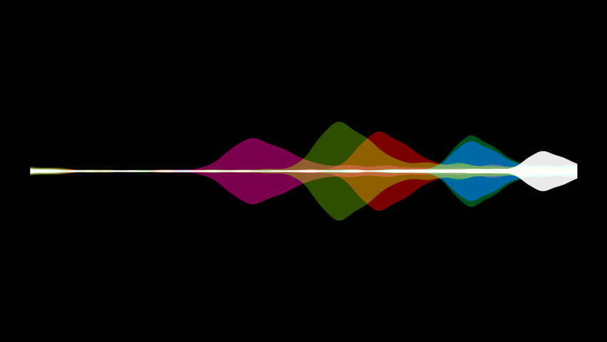 Abstract Motion Background colorful waveform imagination of voice record, artificial intelligence Digital equalizer hud digital audio spectrum sound wave effect Animated background with audio element