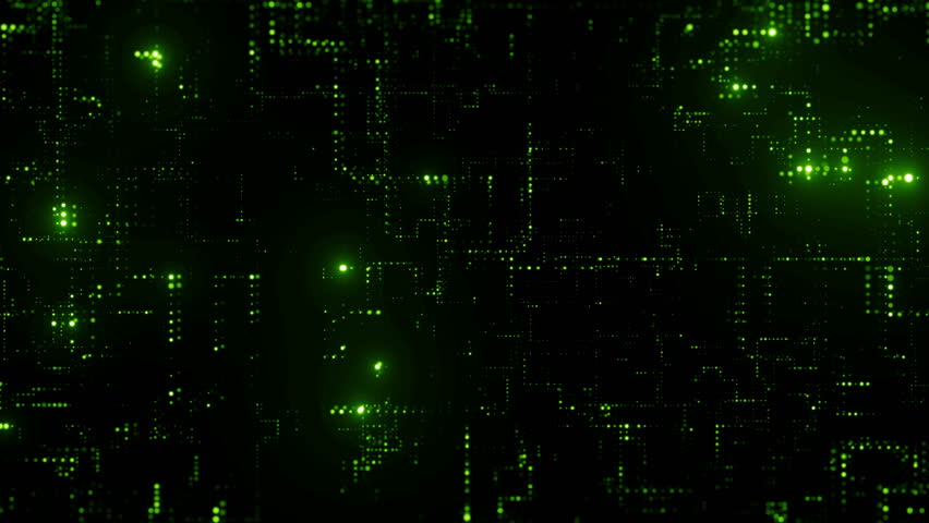 3d render abstract digital background with tech dots. Technology concept with bright glow circles particles. Loopable sequence.  | Shutterstock HD Video #1010007278