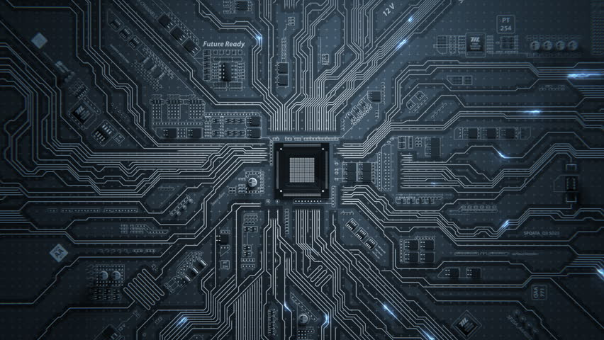 Motherboard Circuit Background | Shutterstock HD Video #1010011586