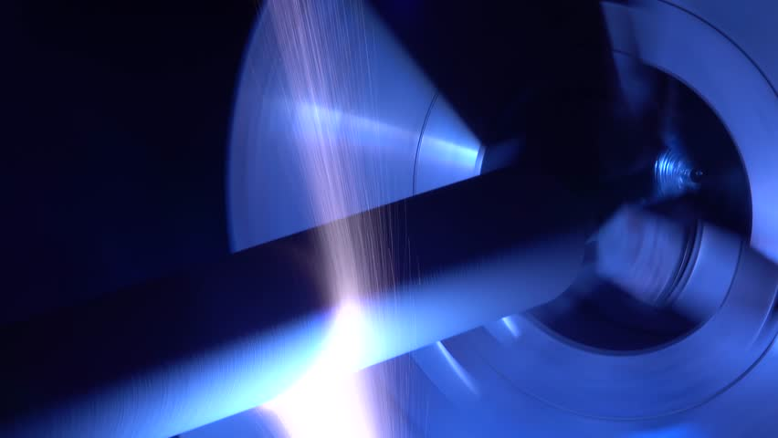 Plasma processing of rotating parts by laser | Shutterstock HD Video #1010028065