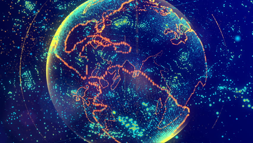The brain consisting of luminous lines and points forming the planet earth   Shutterstock HD Video #1010093627