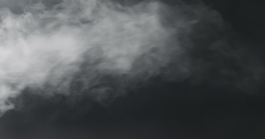 slow motion vapor steam over black background #1010110394