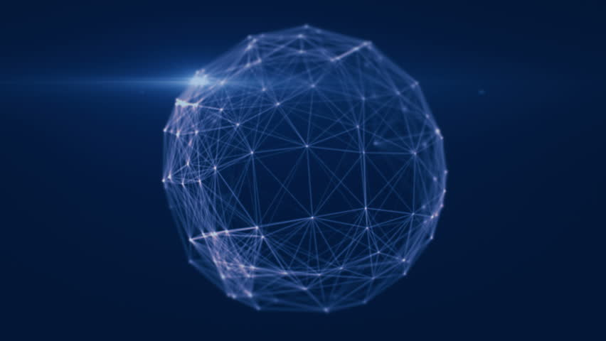 Abstract geometric background with moving lines, dots and triangles. plexus sphere abstract technology. Seamless loop UHD | Shutterstock HD Video #1010136857