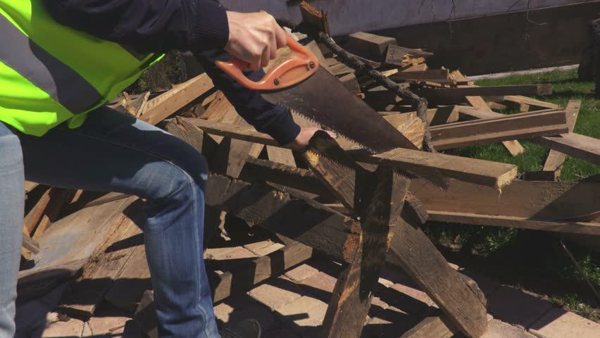 Woman using saw | Shutterstock HD Video #1010159963