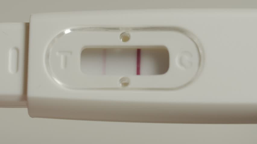 Positive Pregnancy Test In Hands Stock Footage Video 100