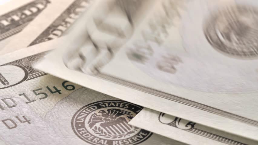 Dollar bills close up, money background. Portrait of Andrew Jackson. Royalty-Free Stock Footage #1010250290
