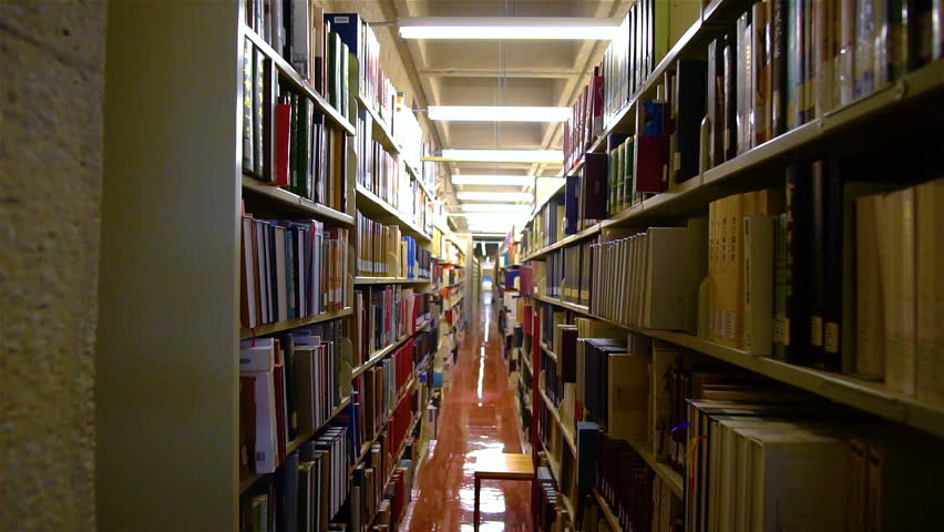 MONTREAL, CANADA - APRIL 2018: Cinematic Views in McGill University of Library Books & Files | Shutterstock HD Video #1010256812