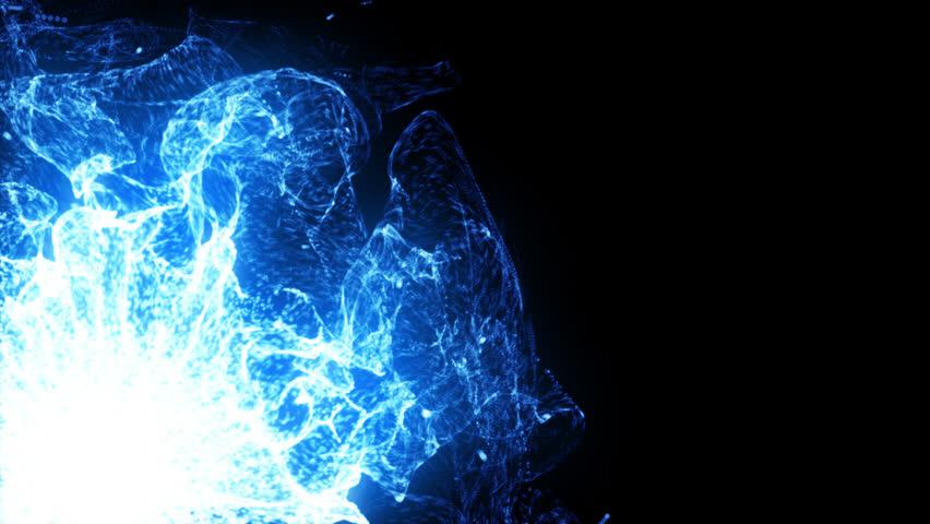 Glowing blue plasma bursts with energy (Loop). | Shutterstock HD Video #1010301596