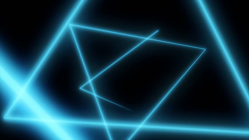 Abstract background with neon triangles. Seamless loop. Neon Grid Square Loop Background. Abstract Triangle. Neon geometric shapes and lines | Shutterstock HD Video #1010309804