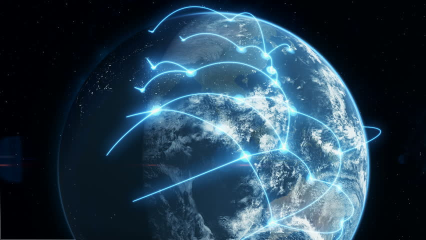 Global Business and Communications Network - Blue | Shutterstock HD Video #1010315435