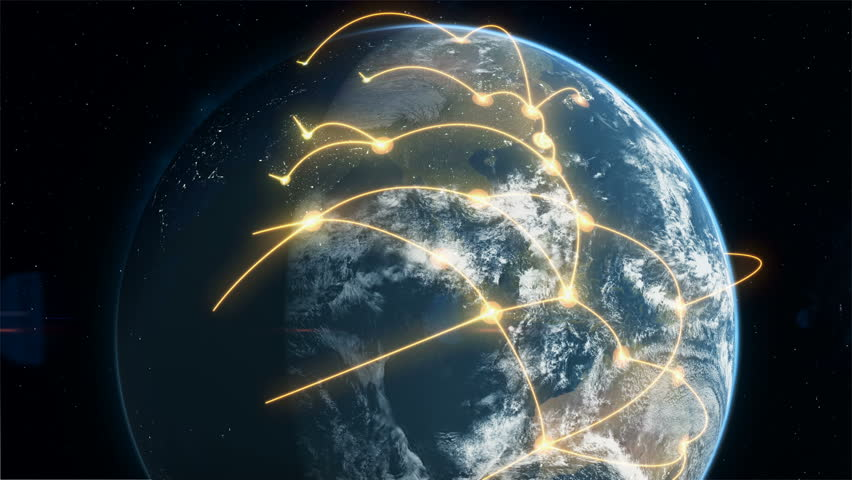 Global Business and Communications Network - Orange | Shutterstock HD Video #1010315438