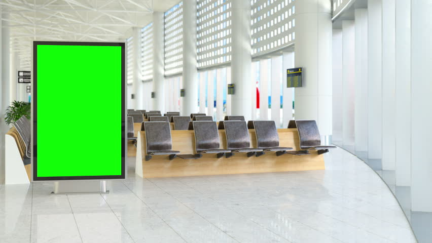 Billboard with track green screen