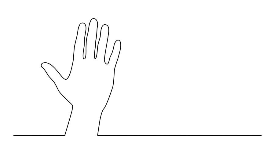 hand waving drawing - 910×480