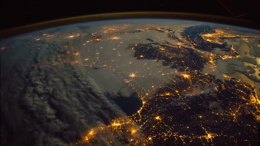Planet Earth seen from the ISS. Elements of this video furnished by NASA. | Shutterstock HD Video #1010364929