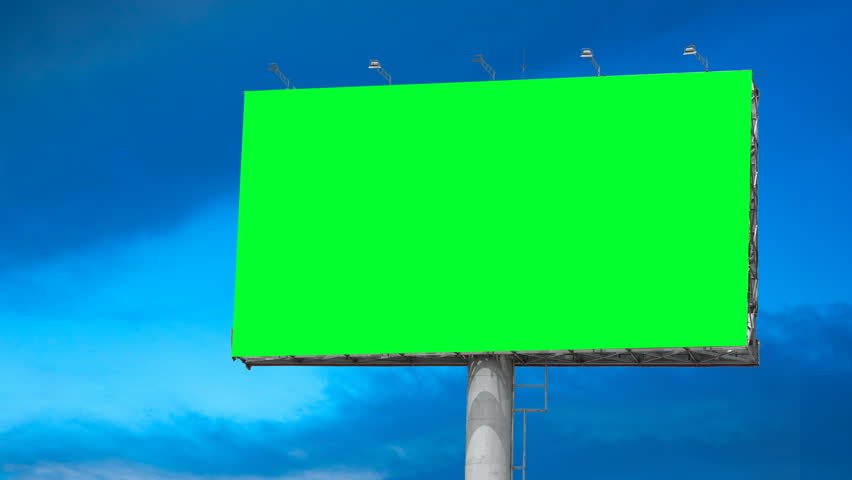 Blank Billboard with Moving Clouds | Shutterstock HD Video #1010368430