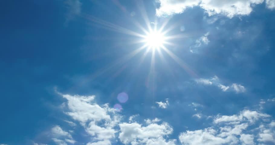 Cloud sky time lapse, cloud moving and sun light 4K    Shutterstock HD Video #1010384204