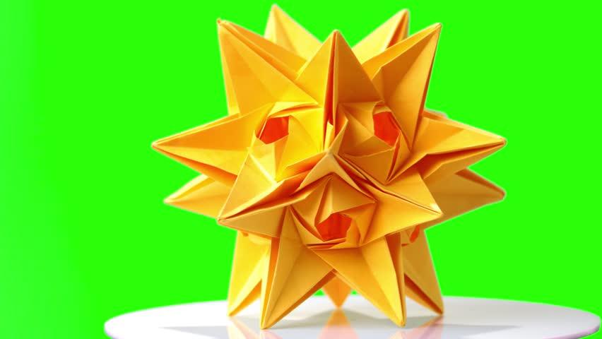 Origami: 3D Star - Christmas Decoration Idea's (Kusudama Spiky ...   480x852