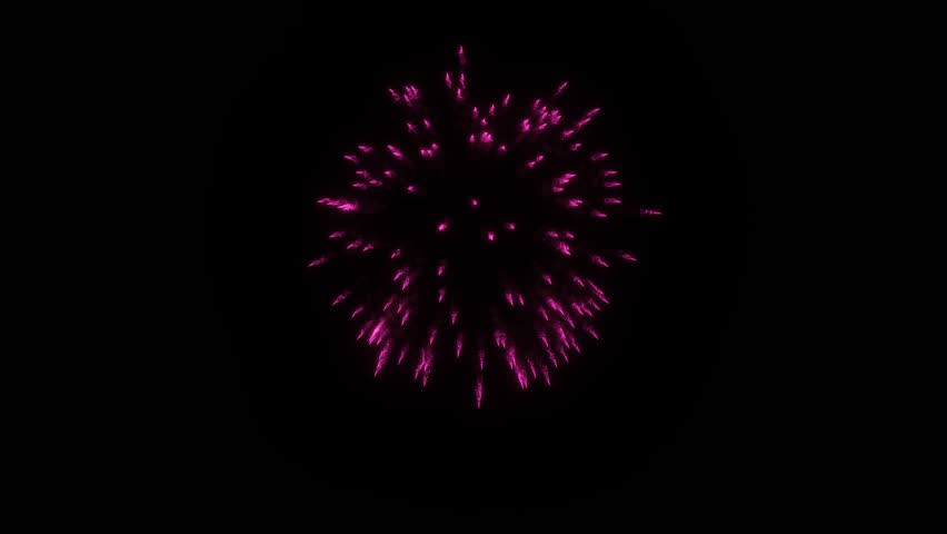 Colorful single firework at night. Spectacular single Gold. Alone Gold firework firecrackers with smoke trace 3d render. V32 | Shutterstock HD Video #1010436071