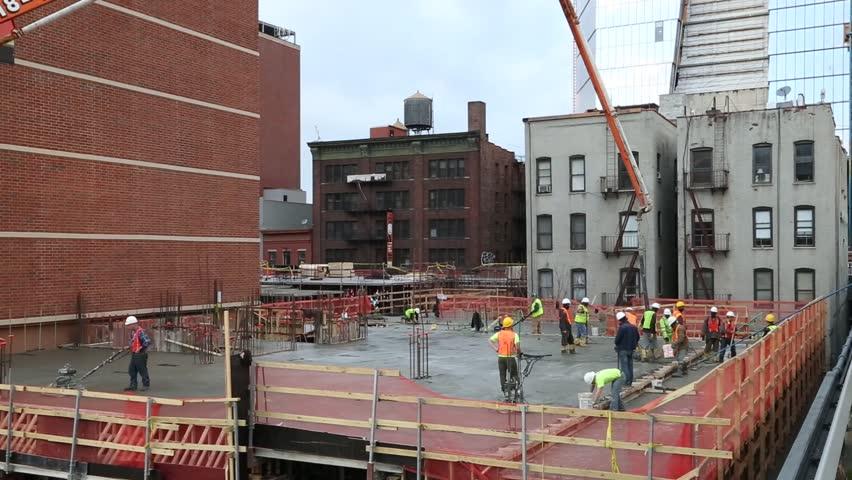 New york, New york,Usa. September 2th, 2016: New York City High Line night in New York City. builders build a house
