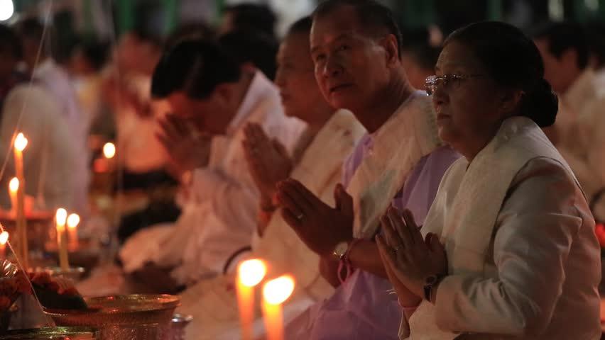 Xiangkhouang, Laos - NOVEMBER 18, 2015: The celebrations the ancestors of the Laotian in Xiangkhouang, Laos.   Shutterstock HD Video #1010464835