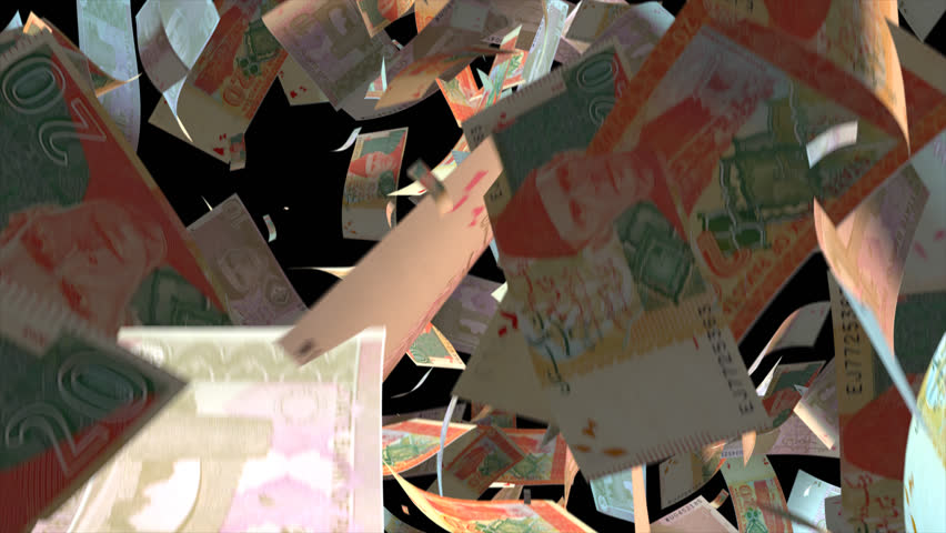 Falling Pakistan money banknotes  Video Effect simulates Falling Mixed Pakistan money banknotes with alpha channel (transparent background) in 4k resolution  | Shutterstock HD Video #10104821