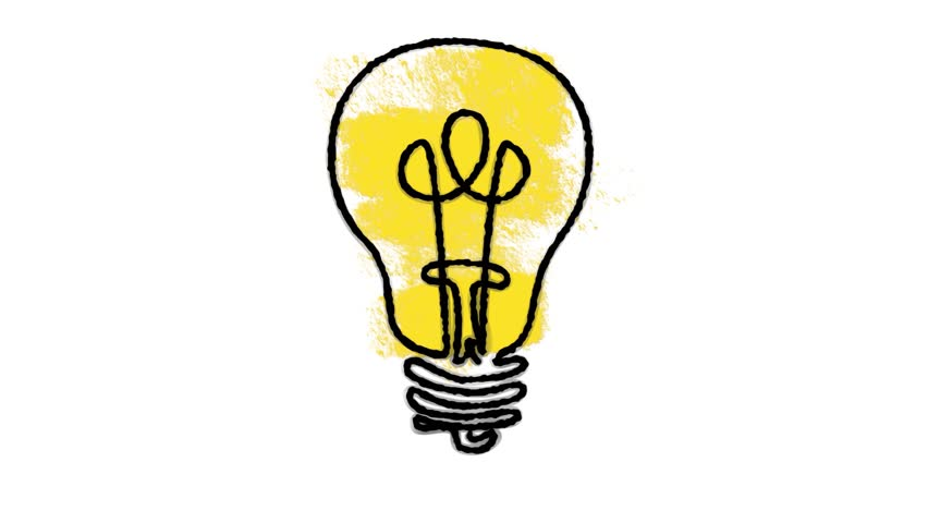 Hand Draw Lamp Idea : stockbeeldmateriaal en -video's (rechtenvrij)  1010508059 | Shutterstock