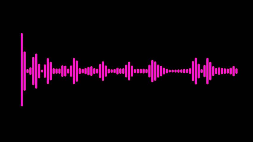 Pink audio spectrum waveform animation | Shutterstock HD Video #1010552981