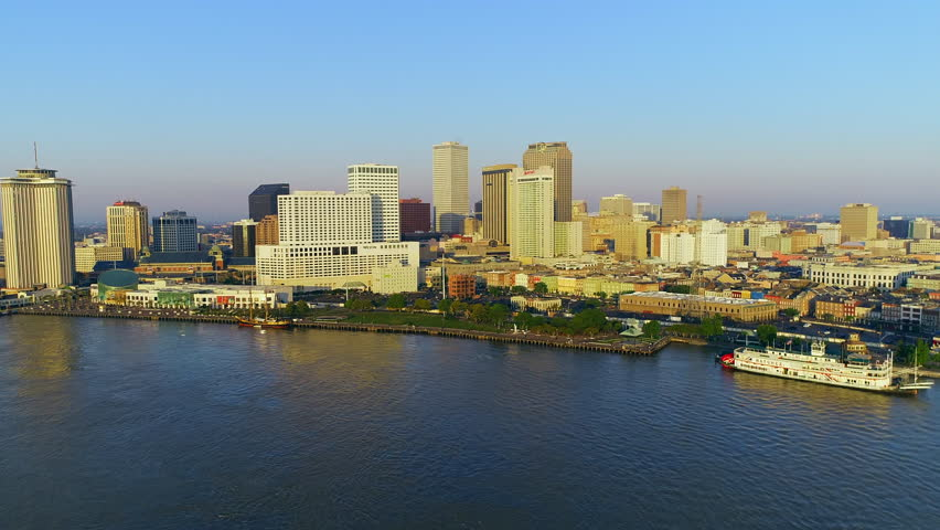 New Orleans aerial skyline cityscape