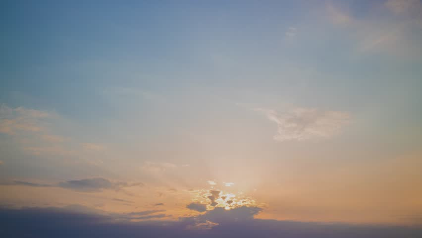 sunset clouds time lapse  #1010587619