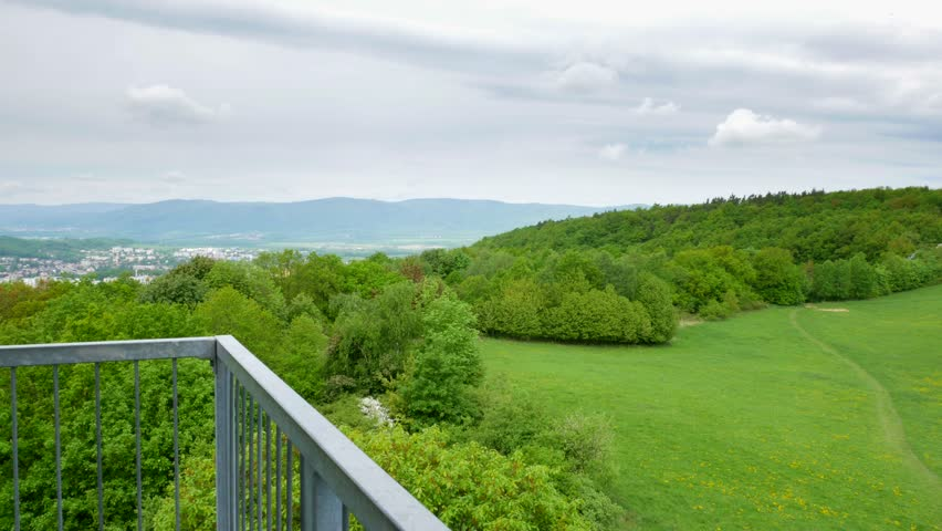 180° view of the landscape from the lookout tower(Erbenova vyhlídka) - view of part with nature #1010608961