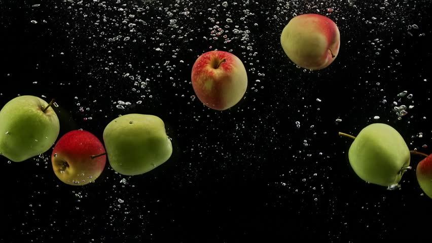Падающие яблоки гифка