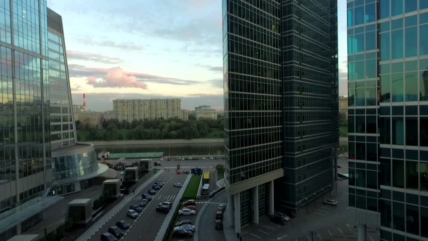 Moscow city in the evening | Shutterstock HD Video #1010634266