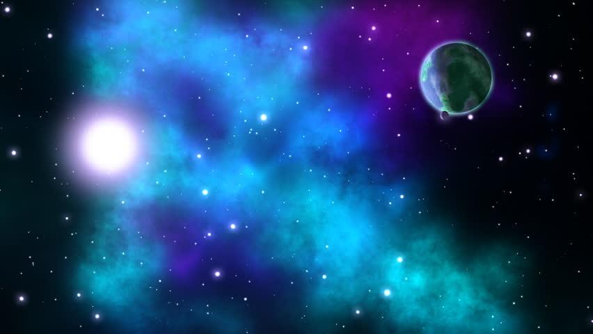 Space background. Loop.   Shutterstock HD Video #1010634761