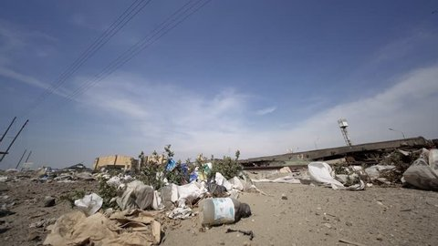 Waste in a gost town in south america. Environment Pollution
