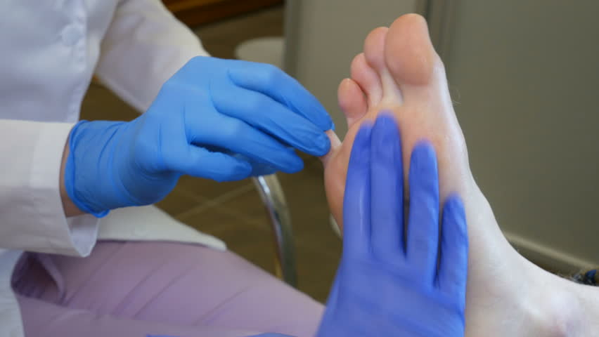 Foot treatment with cream after peeling. Close up | Shutterstock HD Video #1010644322