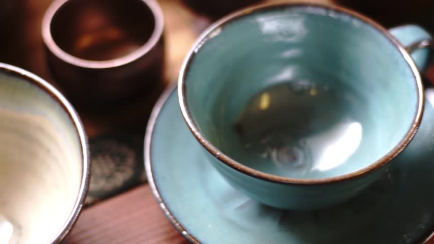 Japanese pottery with a beautiful color #1010658605