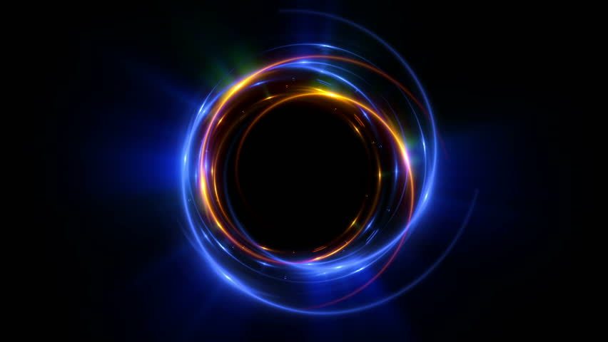 Abstract neon background. Shine ring. Halo around. Sparks particle.  Space tunnel. LED color ellipse. Glint glitter. Shimmer loop motion.  Empty hole. Glow portal. Astral ball. Slow spin. Bright disc.   Shutterstock HD Video #1010674265