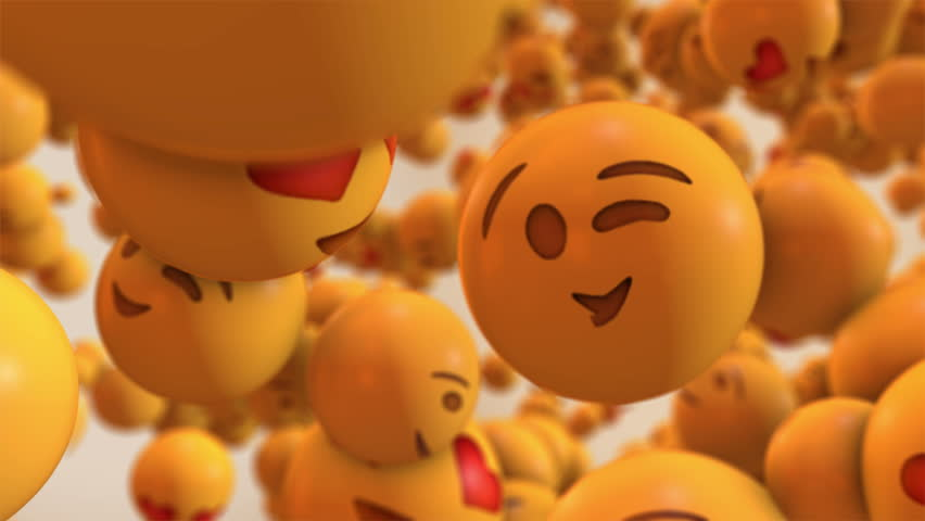 This motion graphics video will brighten anyone's day just like the emojis it features. The clip shows a big crowd of emoji with different facial expressions, flying through the air. Use in your socia Royalty-Free Stock Footage #1010827892
