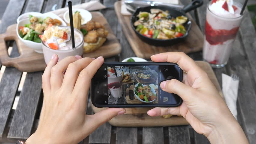 Taking Photo Of Food With Smartphone, Mobile Photography #1010865665