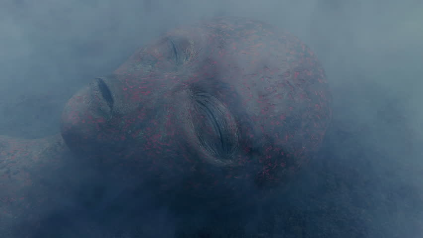 Alien Burnt Up In Smoking UFO Crash