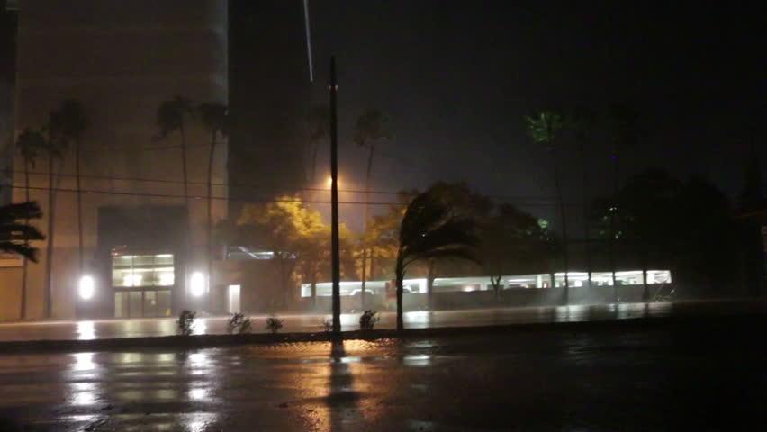 Hurricane Bears Down On Town #1010925986